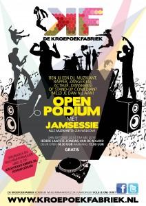 E-flyer Open Podium met