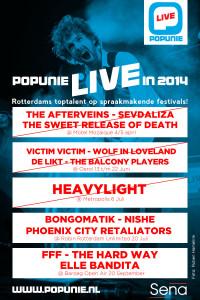 E-flyer Popunie Live juli 2014
