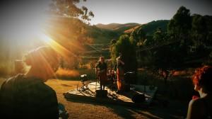 05 Tuinconcert bij zonsondergang in Mbabane