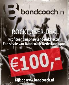 Bandcoach Nederland ROCKTOBER-DEAL