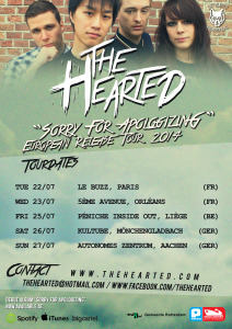European-Release-Tour-2014-Poster- The Hearted