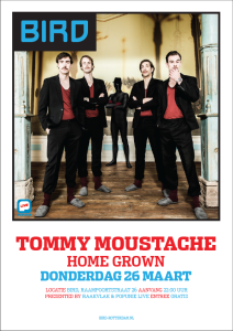TOMMY MOUSTACHE IN BIRD poster