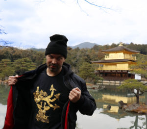 Mike Redman at the golden temple Japan